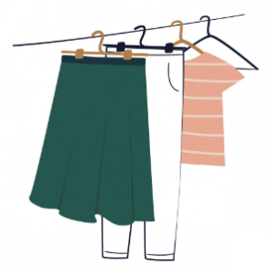 Hanging Clothes Illustration on Styled by Jessica Rogers